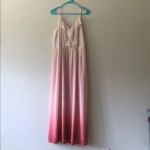 Lauren Conrad blush ombré full length dress